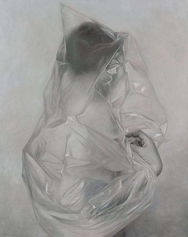Erika Gofton, Visable Darkness, oil on linen