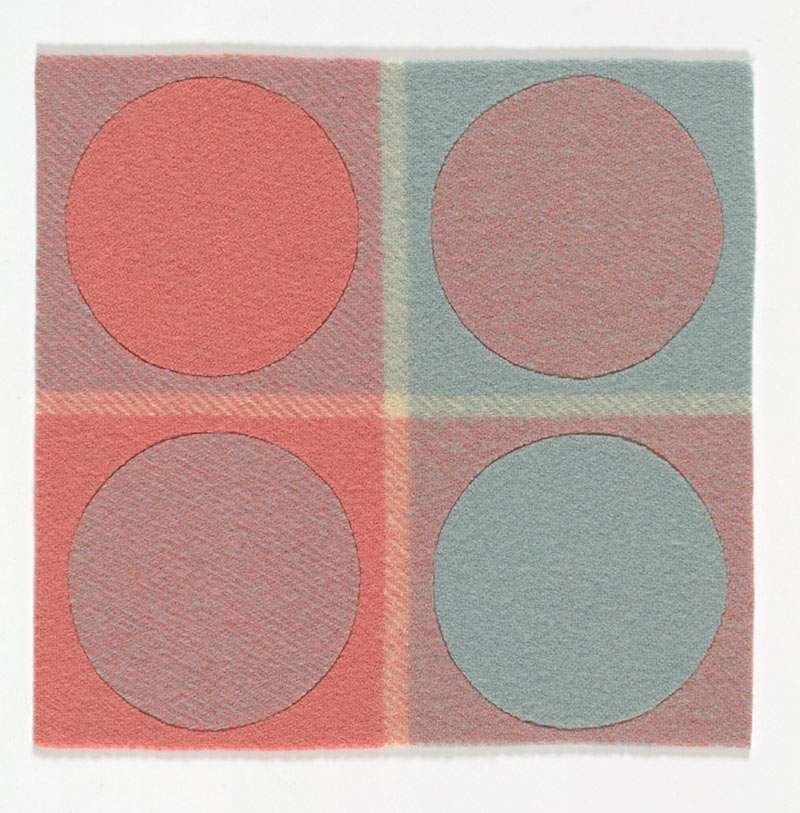 Susan Wirth, Pink and Blue, wool and acrylic, 2018